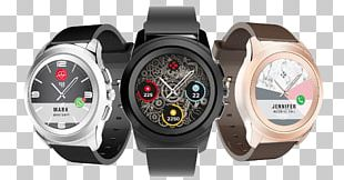 Mykronoz Zetime Original Pebble Time MYKRONOZ KRZEROUNDPGB ZeRound Smartwatch With Circular Color Touchscreen Brown PNG