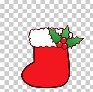 Christmas Tree Santa Claus Christmas Day Sock PNG