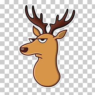 Moose Sticker Telegram Elk Antler PNG