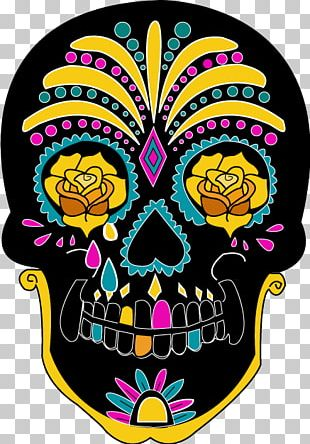 Calavera Adult Coloring Sugar Skull Day Of The Dead Coloring Book PNG