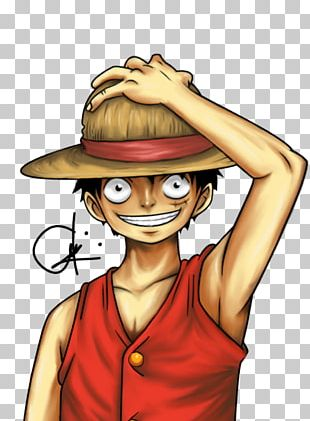 Monkey D. Luffy Art Smile Digital Painting PNG