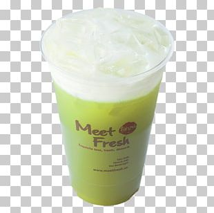 Matcha Green Tea Ice Cream Bubble Tea PNG
