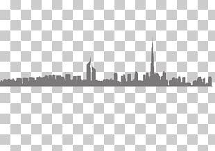 E-Walls Studio Dubai Skyline Silhouette PNG
