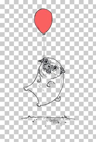 Shar Pei Pug Bulldog Border Collie Balloon Dog PNG