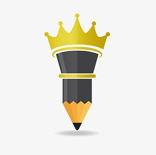 Crown Pencil Pattern PNG