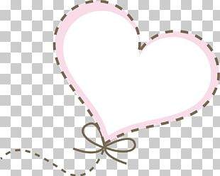 Heart-shaped Dotted Line PNG
