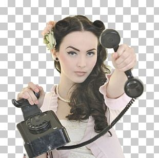 Telephone Woman Microphone Stock Photography PNG