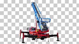 Mobile Crane Aerial Work Platform Ladder Truck PNG