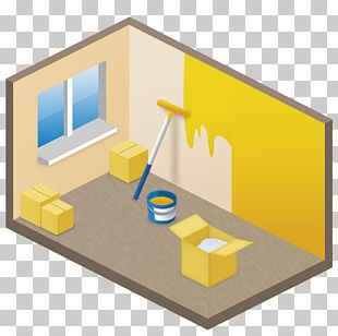 Angle House Material Yellow PNG