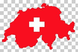 Flag Of Switzerland Map PNG