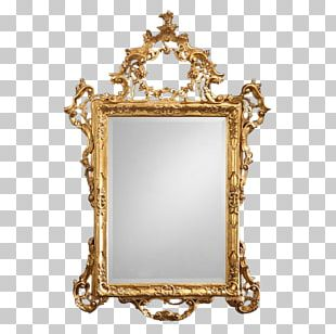Frames 18th Century Mirror Wood Carving PNG