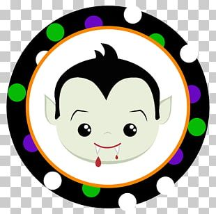 Dracula Sticker Halloween Label PNG