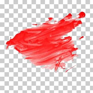 Red Painting Pigment PNG
