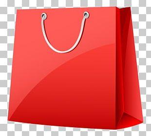 Reusable Shopping Bag Paper Red Handbag PNG