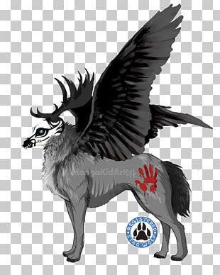 Fallen Angel Dog Black Wolf PNG