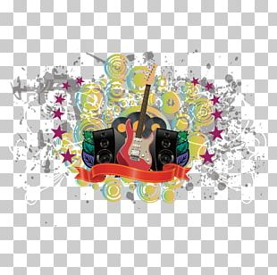 Guitar Graphic Design Poster Watercolor Painting PNG