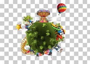 Amusement Park Paper Printing Map PNG