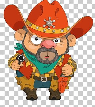 Cowboy Cartoons Illustration PNG