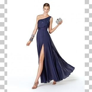 Party Dress Navy Blue PNG