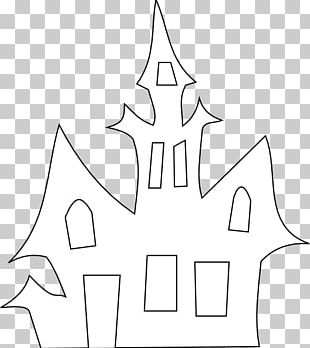Haunted House Halloween Silhouette PNG
