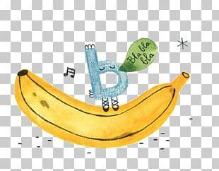 Banana Letter Drawing Illustrator Illustration PNG