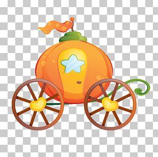 Cinderella Pumpkin Carriage Sticker PNG