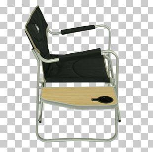 Wing Chair Deckchair Armrest Wood PNG