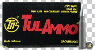 Full Metal Jacket Bullet .223 Remington Ammunition Cartridge Tula Arms Plant PNG
