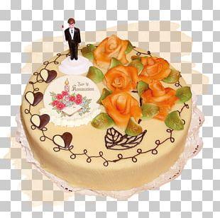 Birthday Cake Torte Fruitcake Sugar Cake Cream Pie PNG