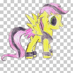 Horse Illustration Animated Cartoon Pink M PNG