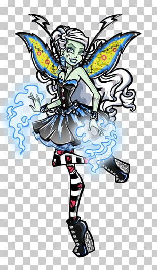 Fairy Monster High Frankie Stein Doll Ever After High PNG