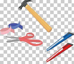 Household Tools Hammer Scissors PNG