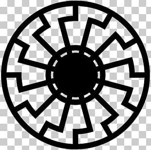 Wewelsburg Black Sun Solar Symbol Sun Cross PNG