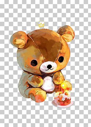 Bear Watercolor Painting Illustration PNG