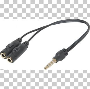 Coaxial Cable Adapter Phone Connector Electrical Connector Headphones PNG