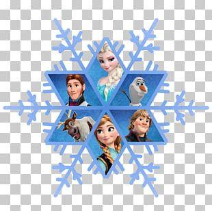Elsa Anna Snowflake PNG
