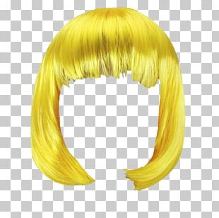 Wig Yellow Bob PNG