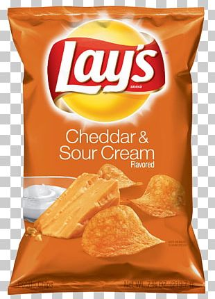 Sour Cream Lays Potato Chip Cheddar Cheese PNG