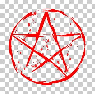 Pentagram Blood Graphic Design PNG