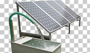Solar-powered Pump Solar Water Heating Solar Panels Solar Energy PNG