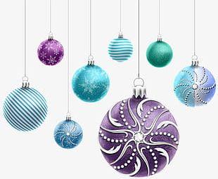 Cartoon Christmas Ball Decoration Graphics PNG