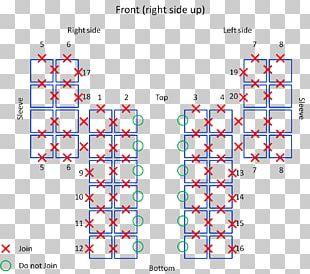 Granny Square Crochet Knitting Motif Pattern PNG