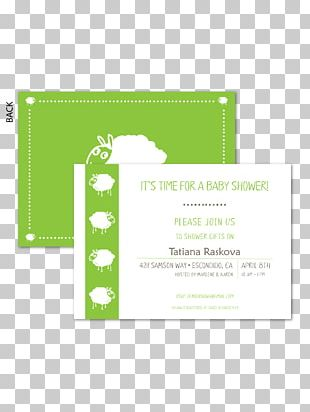 Wedding Invitation Paper Green Baby Shower PNG