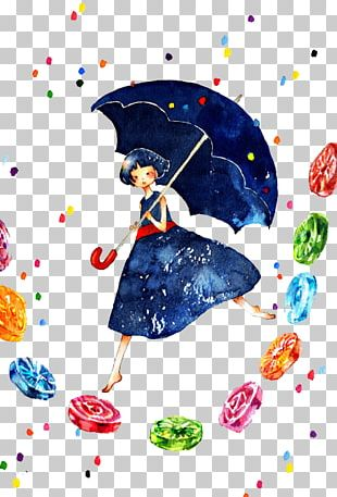 Pixiv Watercolor Painting Cartoon Illustration PNG