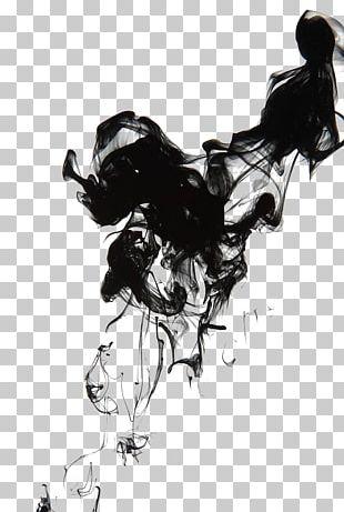 Ink Brush Smoke PNG