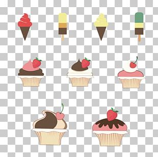 Ice Cream Cone Ice Pop Strawberry Cupcake PNG
