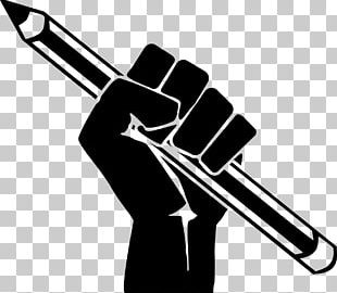 Raised Fist Pencil Poster PNG