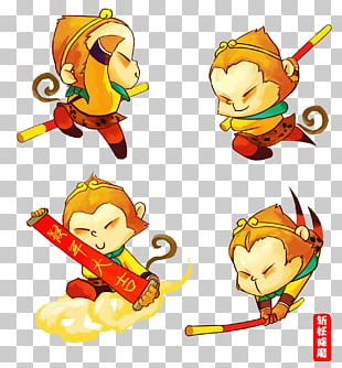 Sun Wukong Journey To The West Goku Mount Huaguo Monkey PNG