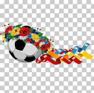 Football Flower Sport Illustration PNG