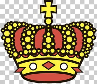 Crown Gold Red Art PNG
